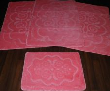 ROMANY WASHABLES TRAVELLER MATS SETS NON SLIP SUPER THICK MATS PINK GYPSY MATS